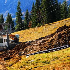 Budowa i instalacja naśnieżania na stoku narciarskim